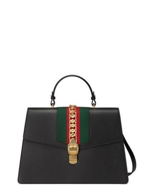 Gucci - Multicolor Maxi Sylvie Top Handle Leather Shoulder Bag - Lyst