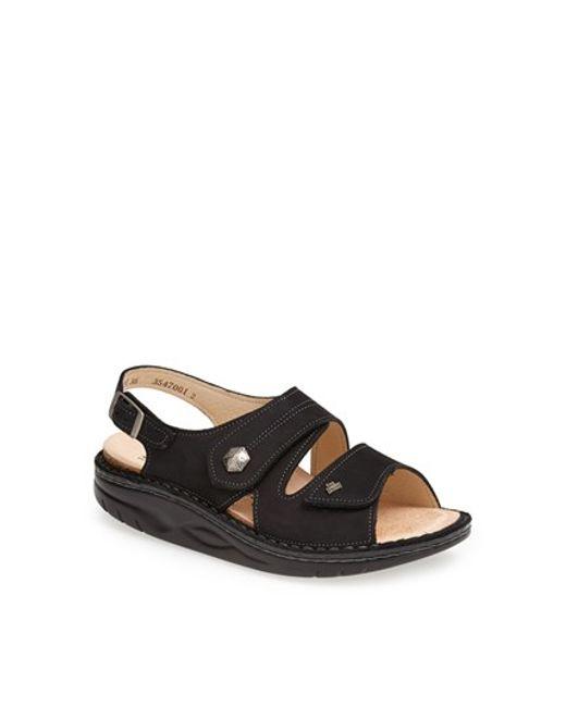 Finn Comfort | Black 'sparks' Sandal | Lyst