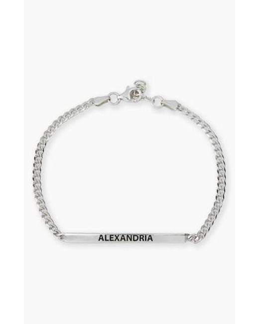 Argento Vivo | Metallic Small Personalized Bar Bracelet | Lyst