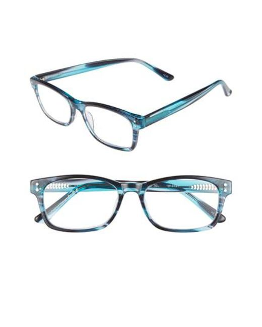 Corinne Mccormack - Edie 52mm Reading Glasses - Teal Blue - Lyst