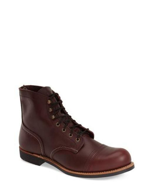 Red Wing | Brown 'iron Ranger' 6 Inch Cap Toe Boot for Men | Lyst