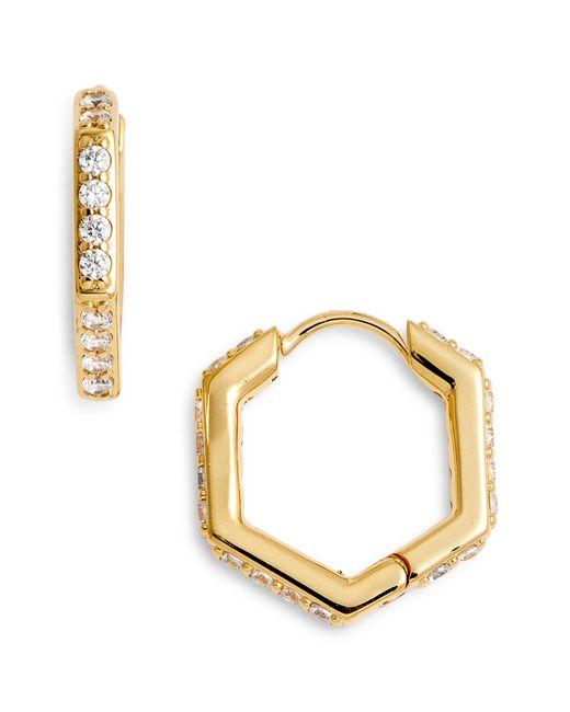 Nadri - Multicolor Hexagon Huggie Earrings - Lyst