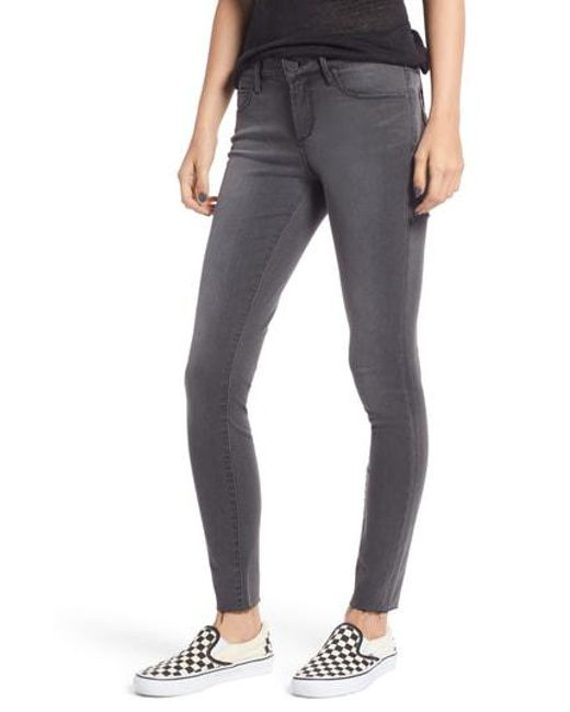 364450a5cd Lyst - Articles Of Society Sarah Cutoff Skinny Jeans in Gray