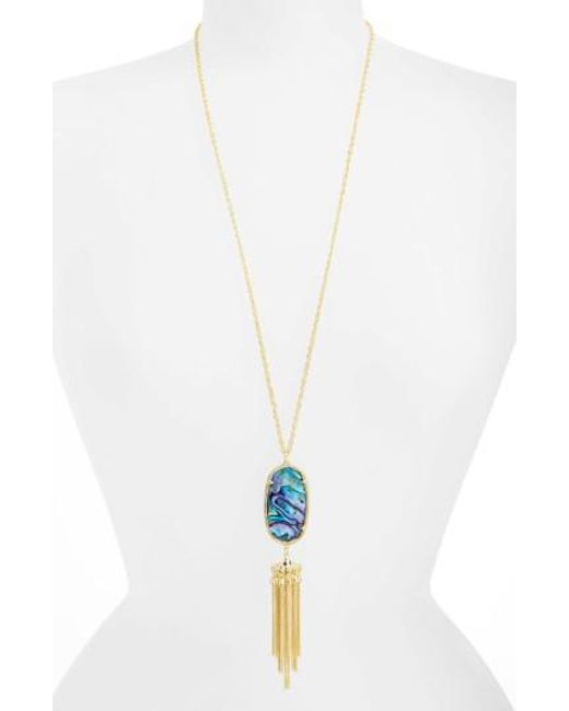Kendra Scott - Purple Rayne Stone Tassel Pendant Necklace - Lyst