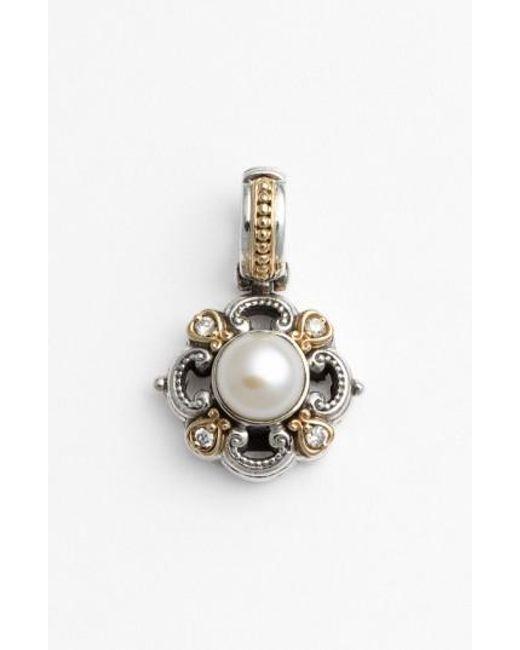 Konstantino | Metallic 'hermione' Pearl & Diamond Pendant | Lyst