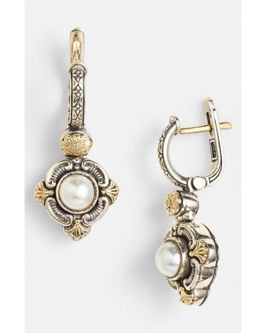 Konstantino   Metallic 'hermione' Pearl Drop Earrings   Lyst
