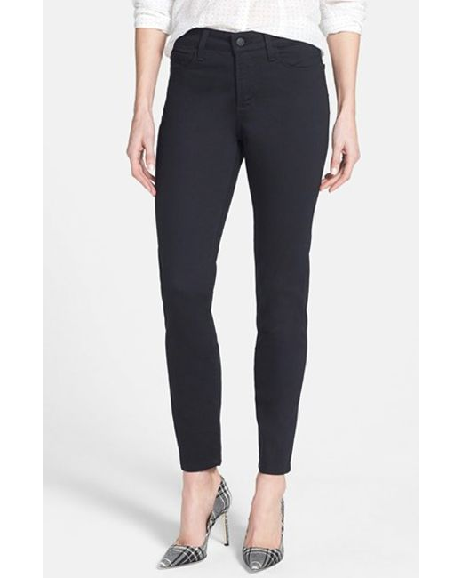 NYDJ | Black 'clarissa' Colored Stretch Ankle Skinny Jeans | Lyst