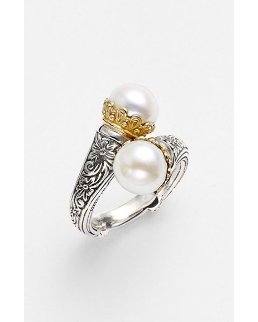 Konstantino | Metallic 'hermione' Pearl Coil Ring | Lyst