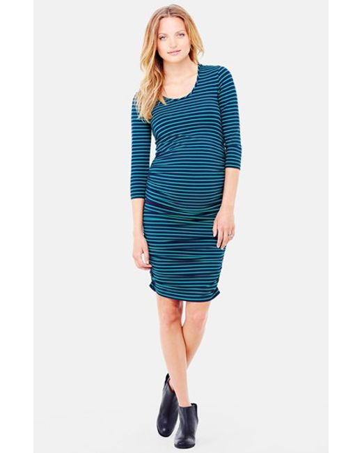 Ingrid & Isabel | Blue Ingrid & Isabel Shirred Maternity Dress | Lyst
