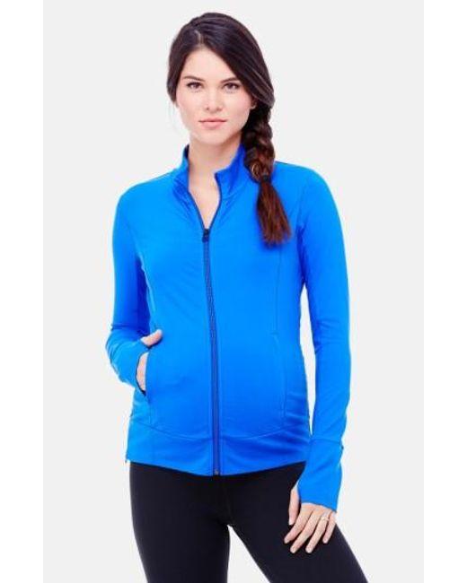 Ingrid & Isabel | Blue Active Maternity Jacket | Lyst