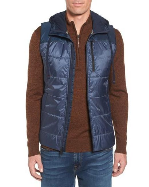 Smartwool | Blue Double Propulsion Hooded Vest for Men | Lyst