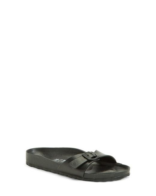Birkenstock | Black 'essentials - Madrid' Slide Sandal | Lyst