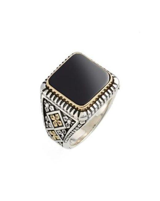 Konstantino | Metallic Color Classics Semiprecious Stone Ring | Lyst
