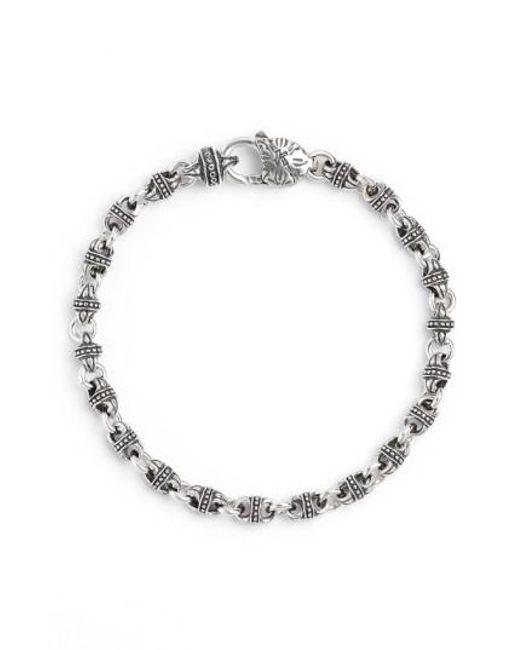 Konstantino   Metallic Silver Classics Link Bracelet   Lyst