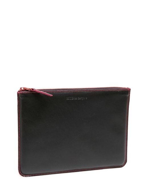 Comme des Garçons | Black 'marvellous' Leather Zip-up Pouch | Lyst