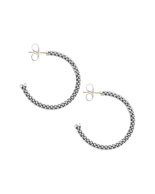 Lagos Metallic Caviar Hoop Earrings (online Only)
