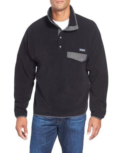 Patagonia   Black 'synchilla Snap-t' Fleece Pullover for Men   Lyst