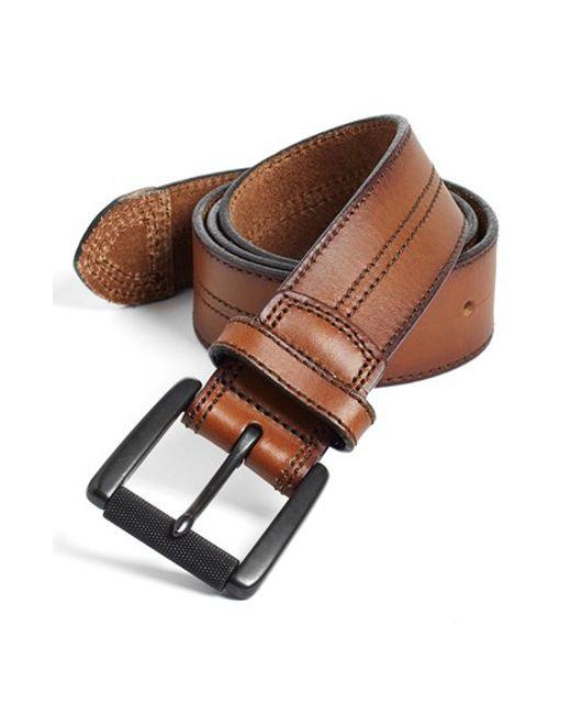 Johnston & Murphy | Brown Leather Belt for Men | Lyst