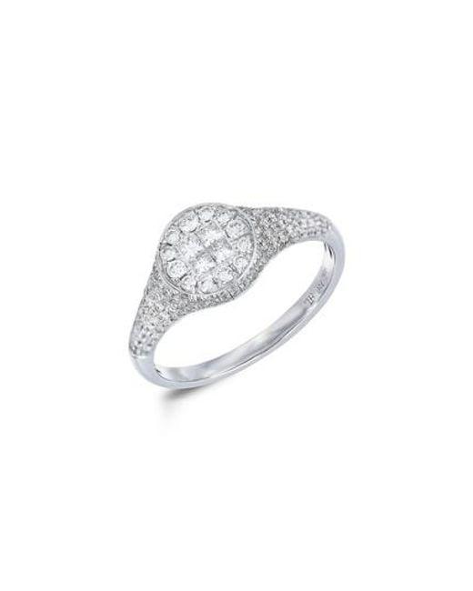 Bony Levy | Metallic Diamond Signet Ring (nordstrom Exclusive) | Lyst