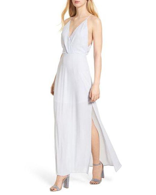 Nordstrom - Blue Surplice Maxi Dress - Lyst