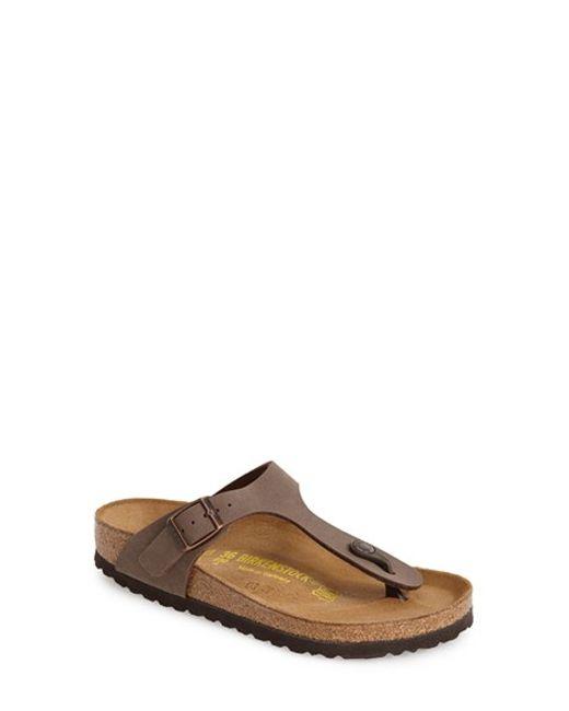 Birkenstock   Brown 'gizeh' Birko-flor Thong Sandal   Lyst