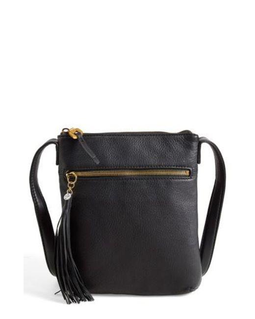 Hobo   Black 'sarah' Leather Crossbody Bag   Lyst