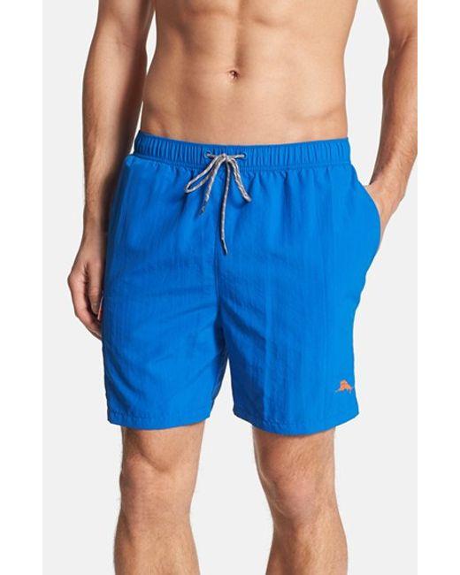 Tommy Bahama | Blue 'happy Go Cargo' Swim Trunks for Men | Lyst