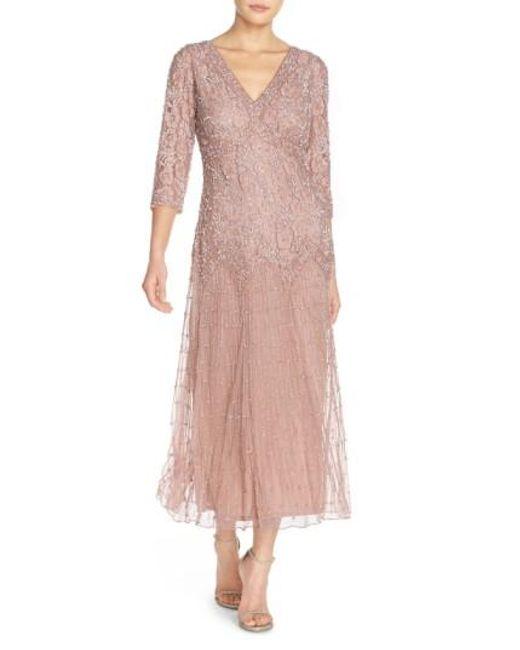 Pisarro Nights | Purple Beaded Mesh Dress | Lyst