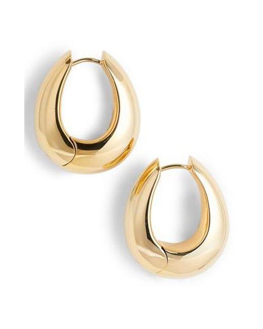 Tom Wood | Metallic Large Ice Vermeil Hoop Earrings | Lyst