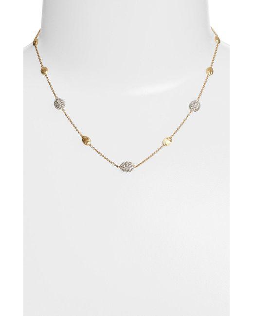 Marco Bicego - Yellow 'siviglia' Diamond Station Necklace - Lyst