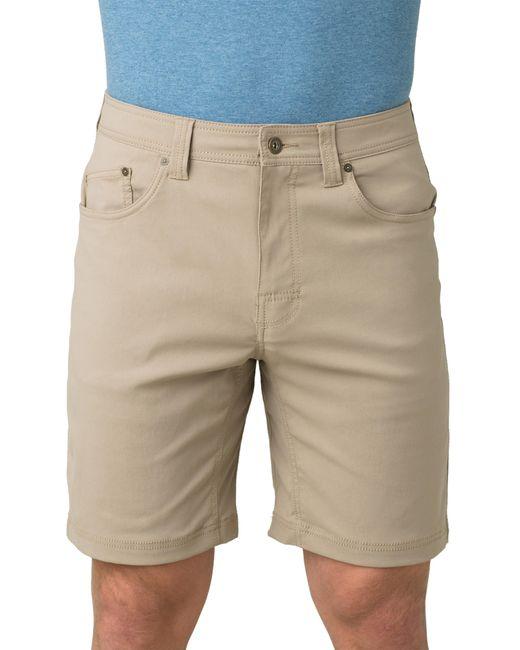 Prana Natural Brion Slim Fit Shorts for men