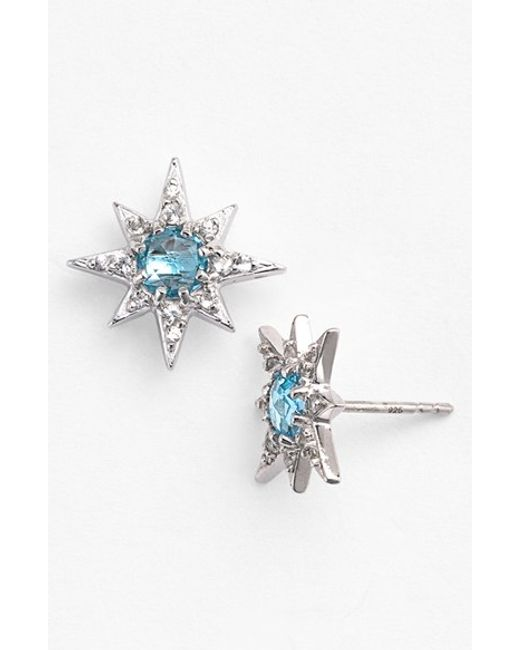 Anzie | Blue 'aztec' Starburst Stud Earrings | Lyst