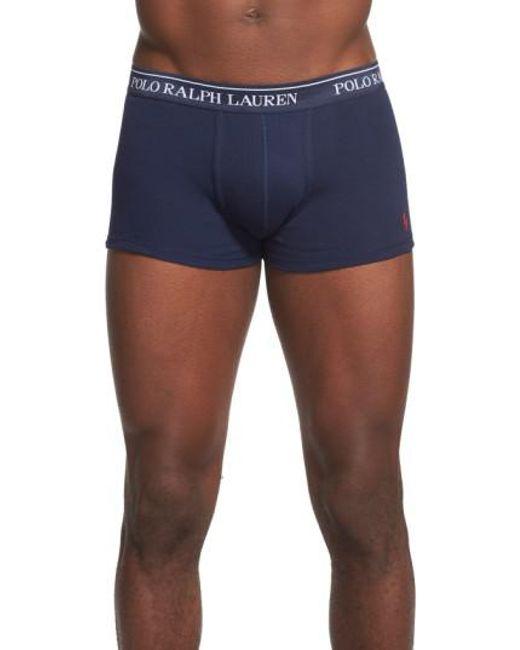 Polo Ralph Lauren - Blue 3-pack Cotton Trunks for Men - Lyst