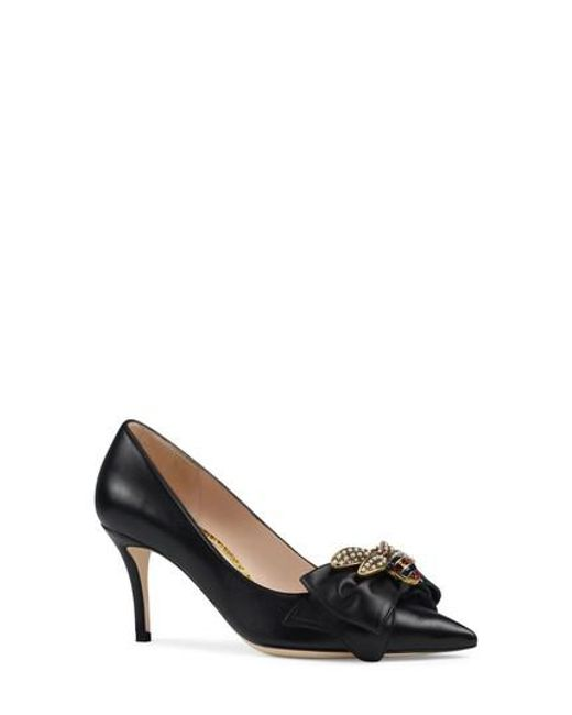 Gucci Women's Queen Margaret Bee Bow Pointy Toe Pump bYk5iby