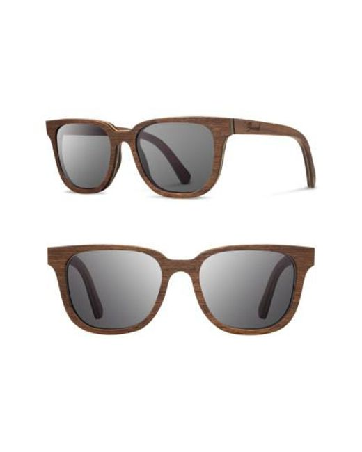 Shwood | Gray 'prescott' 53mm Wood Sunglasses - Walnut/ Grey for Men | Lyst