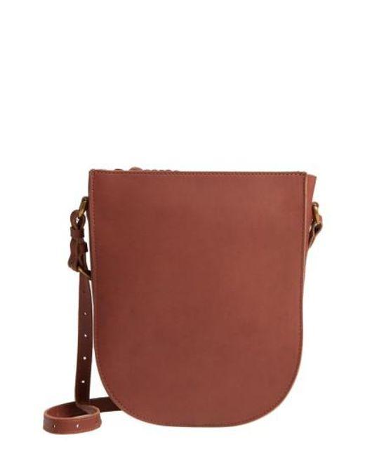 Madewell | Brown Juniper Vachetta Leather Shoulder Bag | Lyst