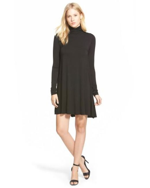 Lamade   Black 'penny' Turtleneck Trapeze Dress   Lyst