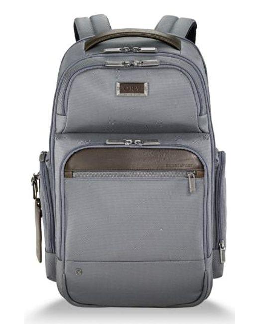 Briggs & Riley - Gray @work Medium Cargo Backpack - for Men - Lyst