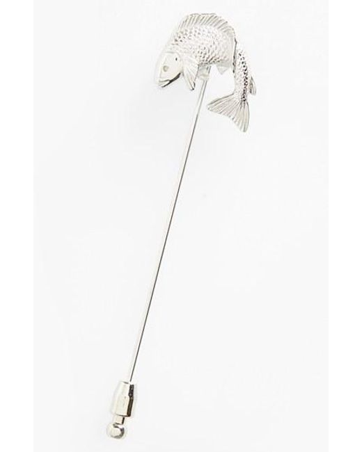 Lanvin | Metallic Fish Lapel Pin | Lyst