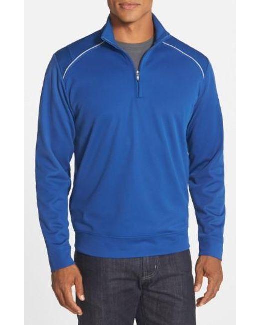 Cutter & Buck | Blue 'ridge' Weathertec Wind & Water Resistant Pullover for Men | Lyst