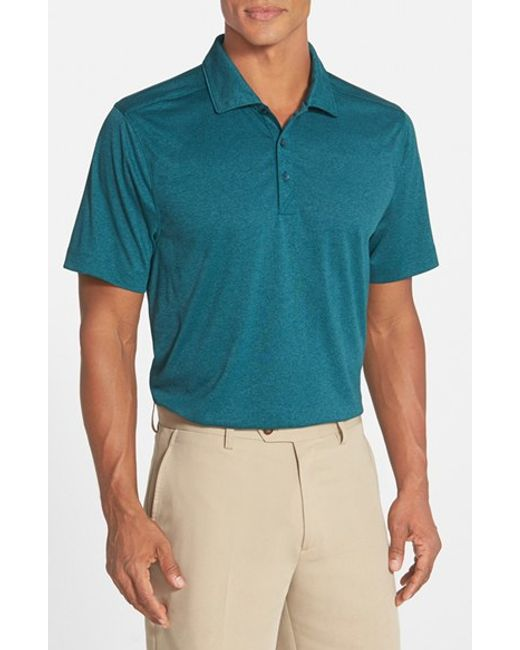 Cutter & Buck | Blue 'chelan' Drytec Moisture Wicking Polo for Men | Lyst
