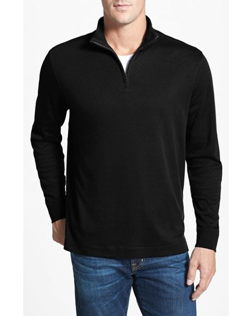 Cutter & Buck | Black 'belfair' Quarter Zip Pullover for Men | Lyst