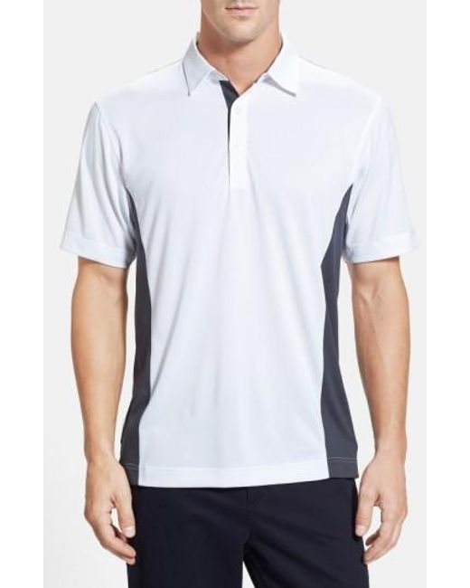 Cutter & Buck | Black 'willows' Colorblock Drytec Polo for Men | Lyst