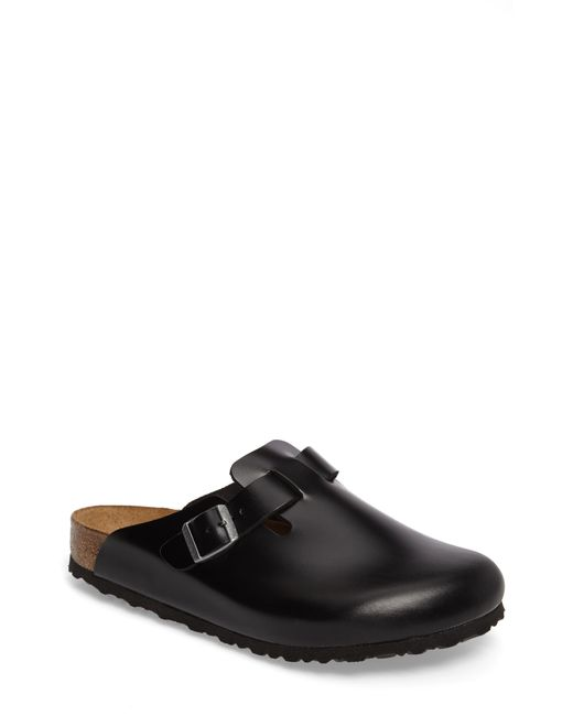 Birkenstock Black Boston Soft Clog for men