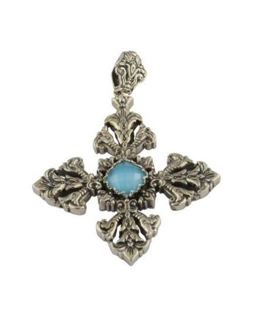Konstantino | Metallic Aegean Large Cross Pendant | Lyst