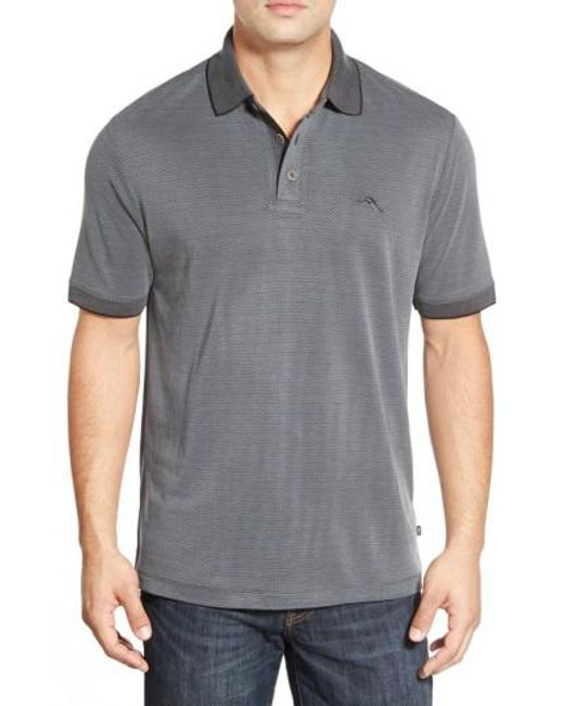 Tommy Bahama   Gray 'ocean View' Short Sleeve Jacquard Polo for Men   Lyst