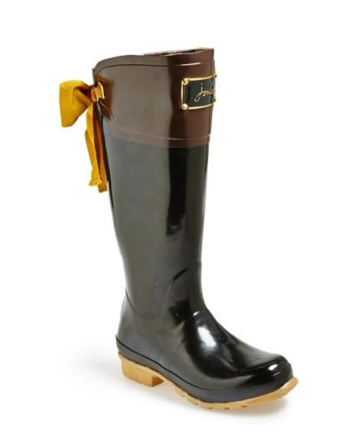 Joules   Black 'evedon' Rain Boot   Lyst