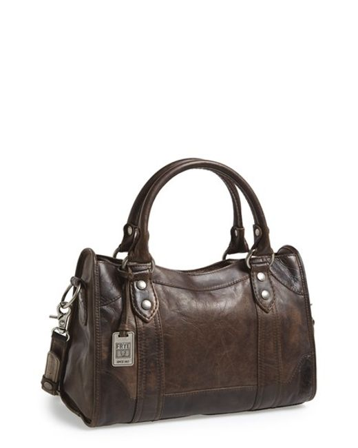 Frye | Brown 'melissa' Washed Leather Satchel | Lyst