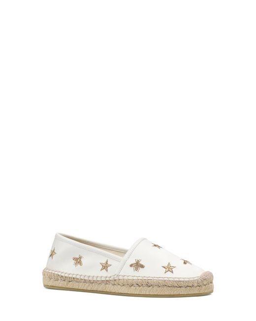 Gucci - Multicolor Pilar Bee Embroidery Espadrille - Lyst