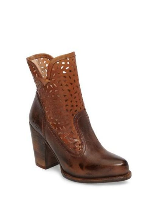 Bed Stu | Brown Irma Perforated Boot | Lyst